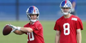 Eli Manning and Daniel Jones