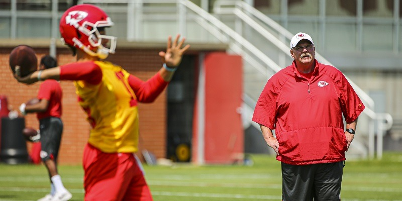 Andy Reid and Patrick Mahomes