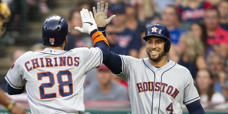 Robinson Chirinos and George Springer