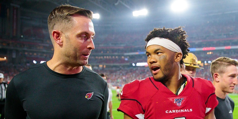 Kliff Kingsbury and Kyler Murray