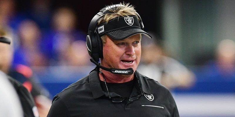 Raiders coach Jon Gruden