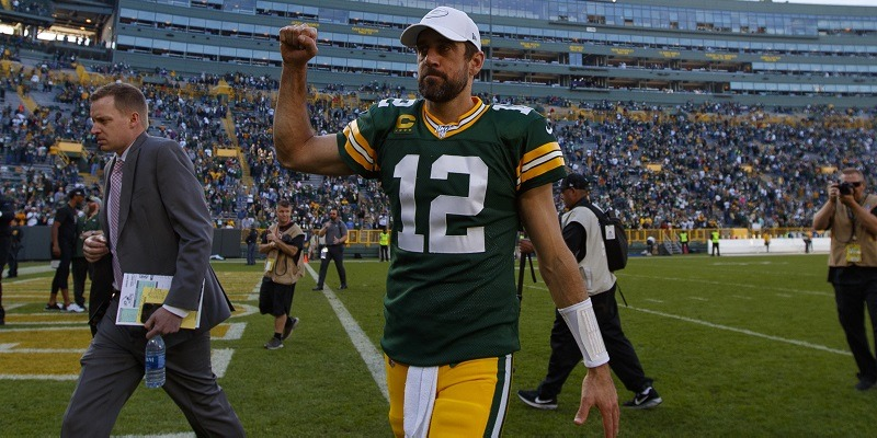 Aaron Rodgers after a Week 7 win