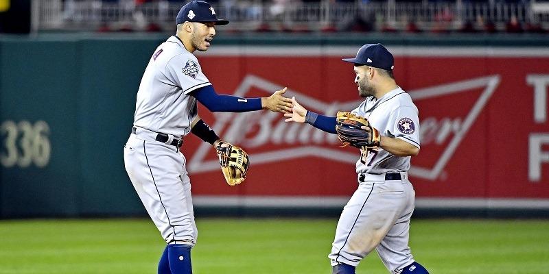 Astros infielders Carlos Correa and Jose Altuve