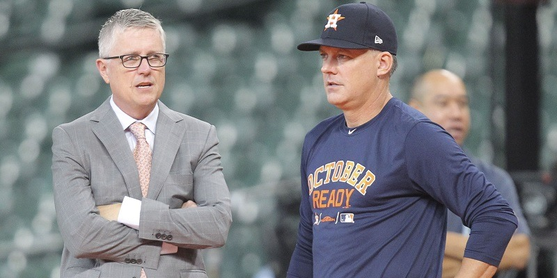 Jeff Luhnow, A.J. Hinch