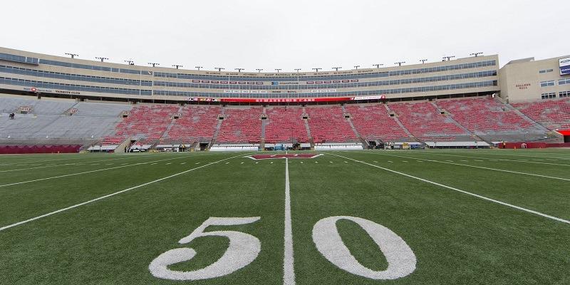 empty Camp Randall Stadium