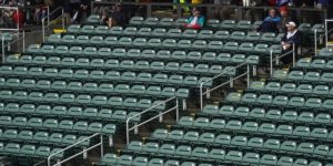 Empty stands, seats