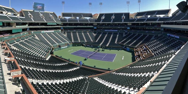 BNP Paribas Open, Indian Wells, empty court