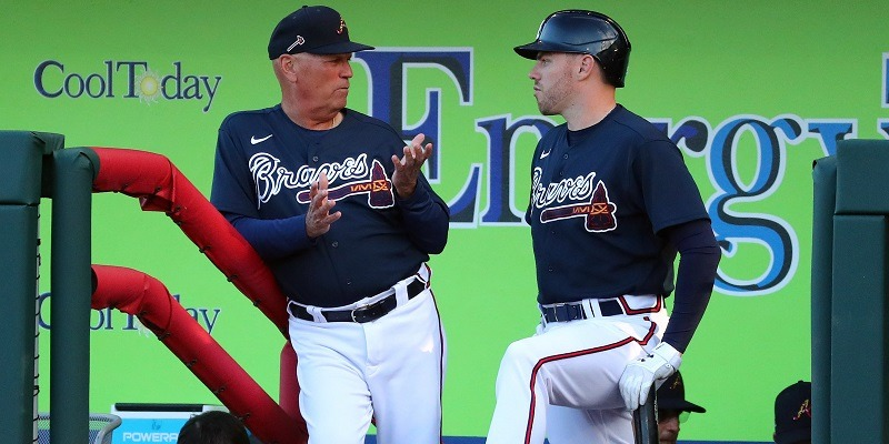 Freddie Freeman, Brian Snitker, Atlanta Braves