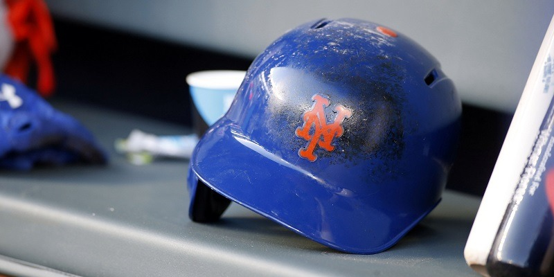 New York Mets helmet