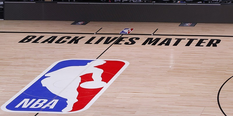 NBA, empty court, black lives matter