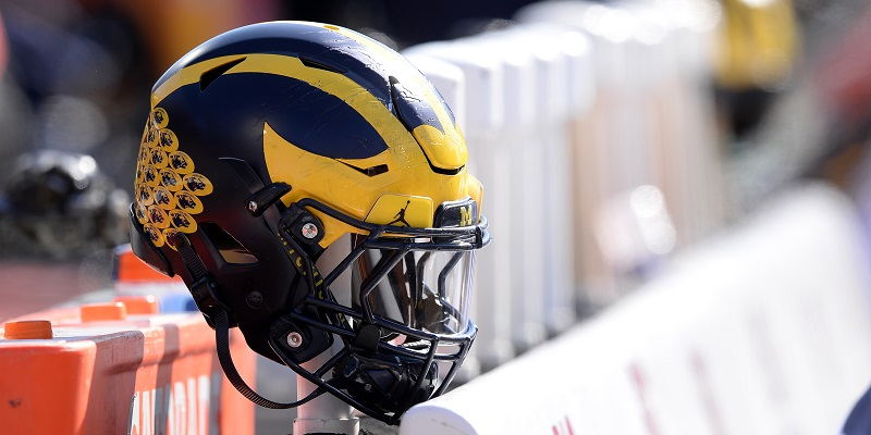 Michigan Wolverines, helmet