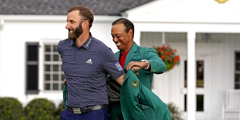Dustin Johnson, Tiger Woods